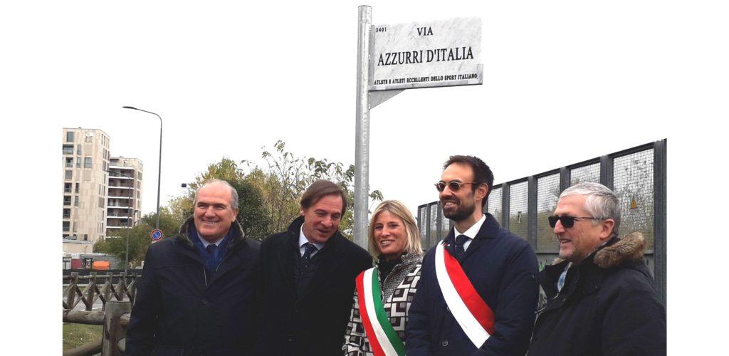 INTITOLATE A VALENTINO MAZZOLA E AGLI AZZURRI D'ITALIA DUE VIE DI MILANO