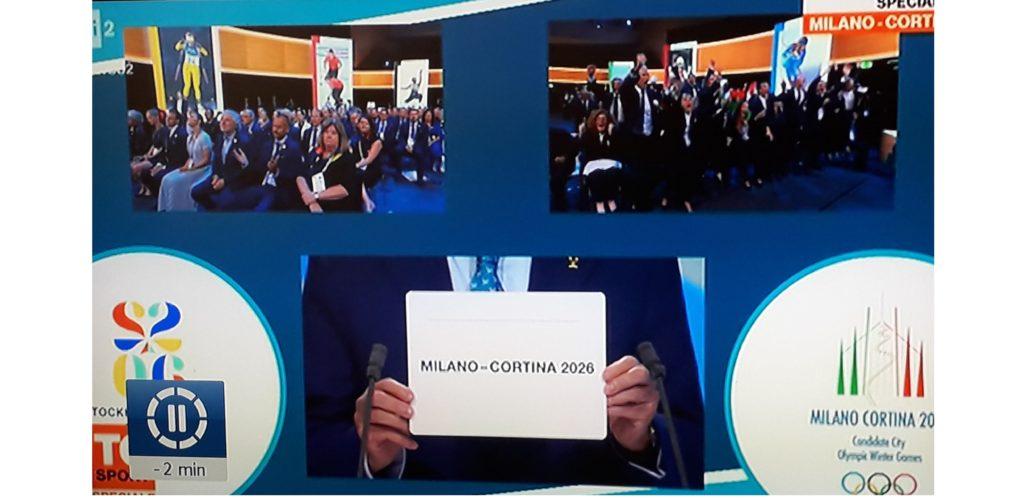 VINCE MILANO-CORTINA: ALL'ITALIA LE OLIMPIADI INVERNALI 2026